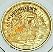 Trump Train .9999 Pure Gold 1oz Coin Round Limited Edition 8 Out Of 45 Total