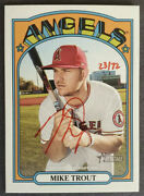 2021 Topps Heritage Mike Trout Red Ink Autograph Auto 'd/72 Sp Mint