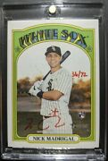 2021 Topps Heritage Nick Madrigal Real One Red Ink Auto /72 White Sox Autograph