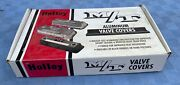 Vintage Nos M/t Mickey Thompson Finned Aluminum Valve Covers Big Block Chevy