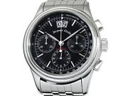 Auth Jacques Etoile Flyback Chronograph 316l Ss Auto Menand039s Watchf4884