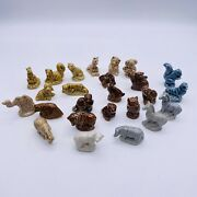 Wade Whimsies Animal Figurines Set Of 25 Red Rose Tea Mixed Lot England