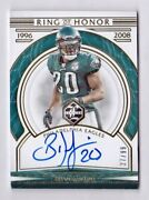 Brian Dawkins Autograph /99 Ring Of Honor 2020 Panini Limited Roh-bd Auto Eagles