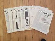 Woodsmith Magazine Issues 1 - 18 Years 1 To 3 Very Good Condition