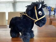 """Vintage 1984 Cabbage Patch Kids Horse 16"""" Black Clydsdale Nice Clean"""