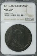 Great Britain 1797 2 Pence Ngc Au 55 Bn  S221