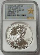 2013 W West Point American Silver Eagle 1 Ngc Reverse Proof 69