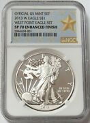 2013 W Enhanced Finish American Silver Eagle 1 Coin Ngc Sp 70
