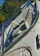 Port Side Curved Glass Windshield Panel Only Off 2000 Glastron Gx 185 Sf