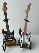Srv Guitars Number One And Lenny Mini Guitar Models With Straps-14 Scale Models
