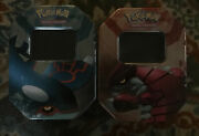 2006 Ex Crystal Guardians Empty Collectible Display Groudon And Kyogre Tins
