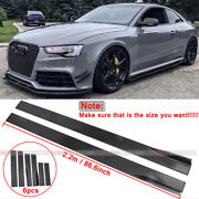 Gloss Black Side Skirts Rocker Panel Splitters Lip For Audi A3 A4 A5 A6 86.6and039and039