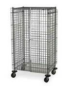 Metro Sec56dc Wire Security Cart With Adjustable Shelves 900 Lb Capacity, 65 In