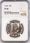 1964 Proof Kennedy Half Dollar Certified Pf 68 By Ngc