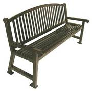 Ultrasite 922-b6 Outdoor Bench. 72 In. L 36 In. H Brown