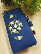 Handmade Fabric Embroidered Notebook Cover For Hobonichi Weeks Notebook Denim