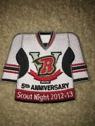 Boy Scout Bsa V R Flames Unknown Night Jersey Ice Hockey Council Sport Patch