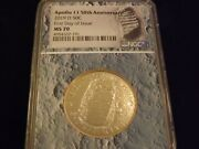 2019-d Apollo Ii 50th Anniversary First Day Of Issue  Ngc Ms 70