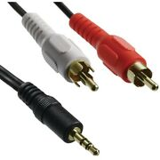 Lot Of 25 - Y-adapter W/3.5mm Stereo Plug To 2 Rca Plugs, 6ft - Free Shipping