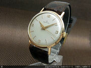 Zenith Watch 18kyg Solid Gold Cal.106-50-6 Center Second Manual Winding Vintage