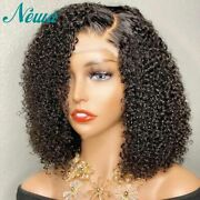 Curly Lace Frontal Human Hair Wigs Pre Plucked Closure Wigs Short Bob Remy Wigs