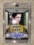 Carrie Fisher Leaf Perfectly Cast Autograph 1/25 2014 Star Wars Princess Leia