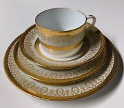4 Pc Chas Field Haviland Limoges Cup And Saucer Set Bread And Salad Plates Arizona