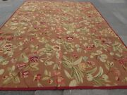 Vintage Hand Made French Design Wool Brown Green Original Aubusson 370x278cm
