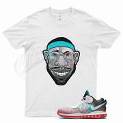 White Lebron Head T Shirt For Nike Lebron 8 Low V2 Miami Nights Fury Neoteal 18