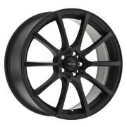 4 New 18x8 Focal 448sb F-20 Black Wheels Rims +40 5x108 And 5x115