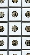 1912 Cigarette Cartoon Buttons Extraordinary Collection Of 171 Different Pins