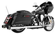 Freedom Performance Hd00262 4.5in. American Outlaw Slip-ons - Chrome/black Tips