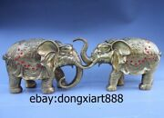 China Brass Copper Elephant Fengshui Auspicious Animal Carry Lucky Wealth Statue