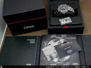 Oris Watch Aquis Date Automatic 300m Diver Black Dial Back Skeleton With Box