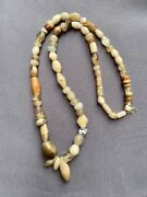A Strand Of Mixed Antique Ancient African Agate Beads Necklace