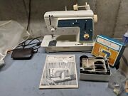 Vintage Singer Touch And Sew Sewing Machine Model 638 Tested Working