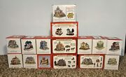 Liberty Falls Americana Collection Christmas Village Lot Of 15 Plus Extra