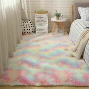 Furry Carpets For Living Room Home Decor Plush Bedroom Floor Mats Area Rugs New