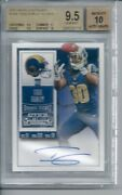 2015 Panini Contenders Todd Gurley Rookie Ticket Auto Bgs 9.5 W/ 10 Sub