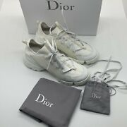 Dior D-connect White Technical Fabric Lace Up Walk Sneaker 39.5 Christian D