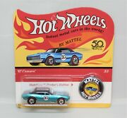 Hot Wheels Redlines 50 Years Candy Blue 67 Camaro Rare Limited Edition Moc