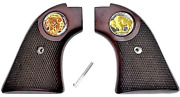 Buffalo 24k Heritage Arms Rough Rider 6 And 9 Shot Grips Checkered Rosewood