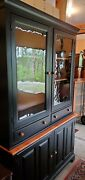 Vintage 2pc Stepback Cupboard From Ny