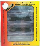 N Roundhouse 89487 50' Overland Southern Pacific 4-car Pass Set Nib