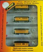 N Roundhouse 89431 34' Overton Southern Pacific 4-car Pass Set Nib