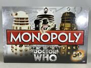 Monopoly Dr Doctor Who 50th Anniversary Board Game Collectors Edition Sealed