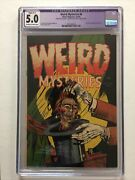 Weird Mysteries 6 - Cgc 5.0 Ow/w - Restored Slight - C1 - Decapited Head Cover