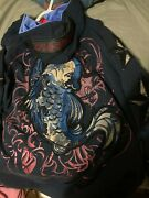 Menand039s Dussault Furious 4 Koi Fish Hoodie Foil Background Xl Discontinued Rare