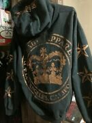 Menand039s Dussault Custom Ink Gold Crown Hoodie Size L Very Rare Discontinued