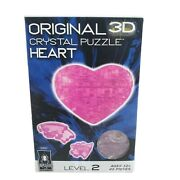 Bepuzzled 3d Crystal Puzzle Heart 45 Pieces 30937 Pink